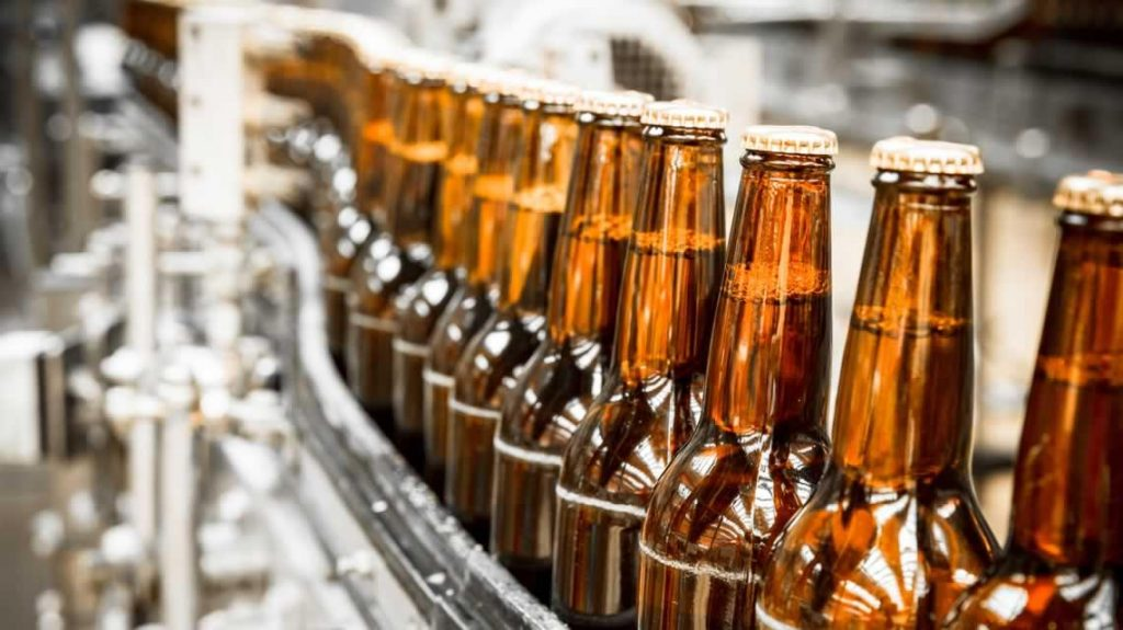beer being bottled