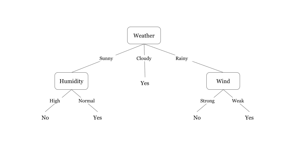 An example of a decision tree used in logic