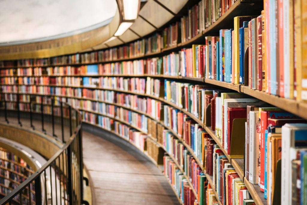 library full of educational products and learning resources