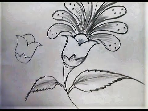 A flower drawn on a piece of paper