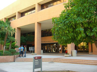 front view of noble science library