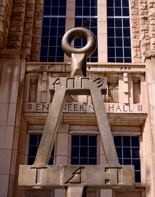 Front of College of Engineering sign