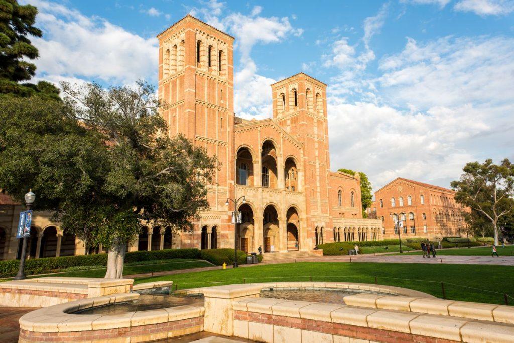 campus building on UCLA's campus