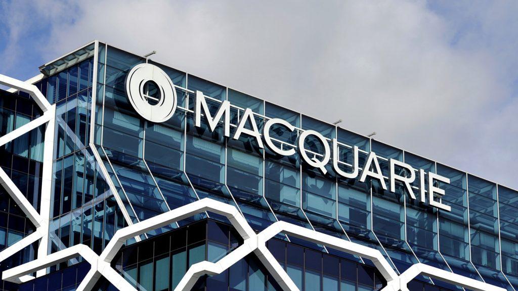 macquarie group logo on head office building in australia