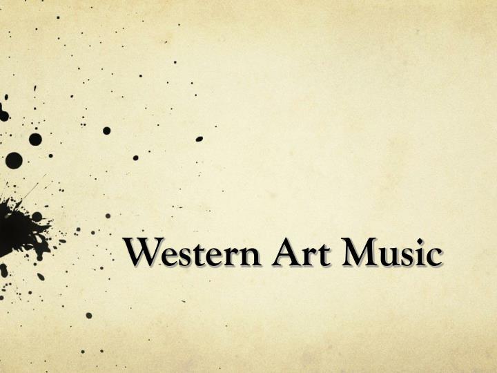 A poster written Western Art Music