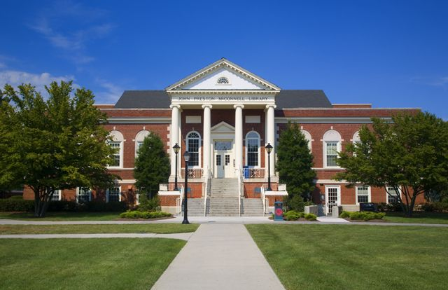 The McConnell Library at Radford University