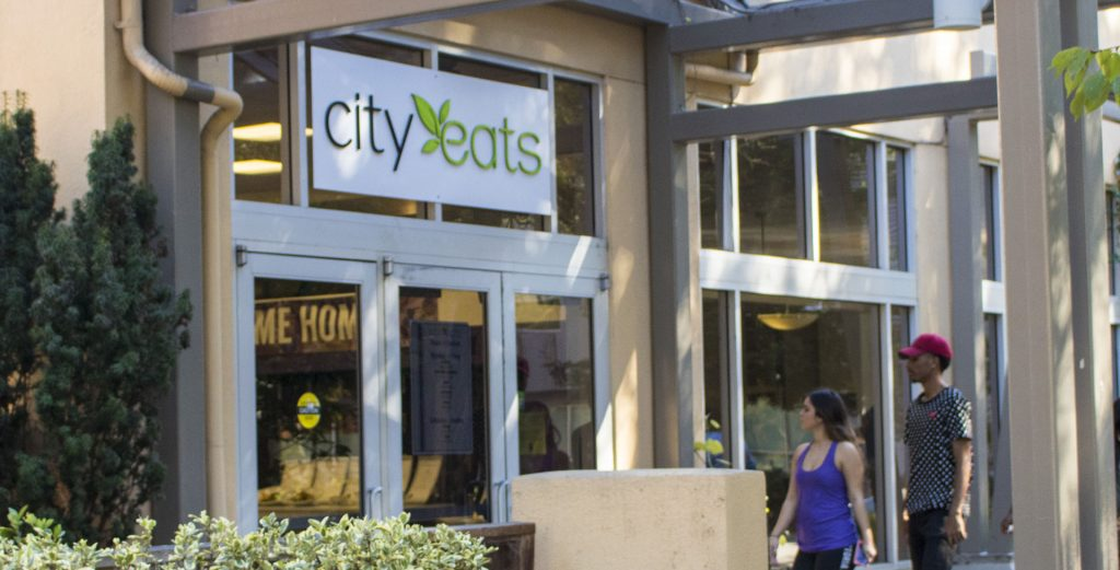entrance to city eats dining center