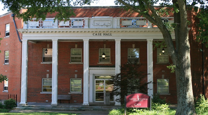 The cozy Case Hall at EKU.
