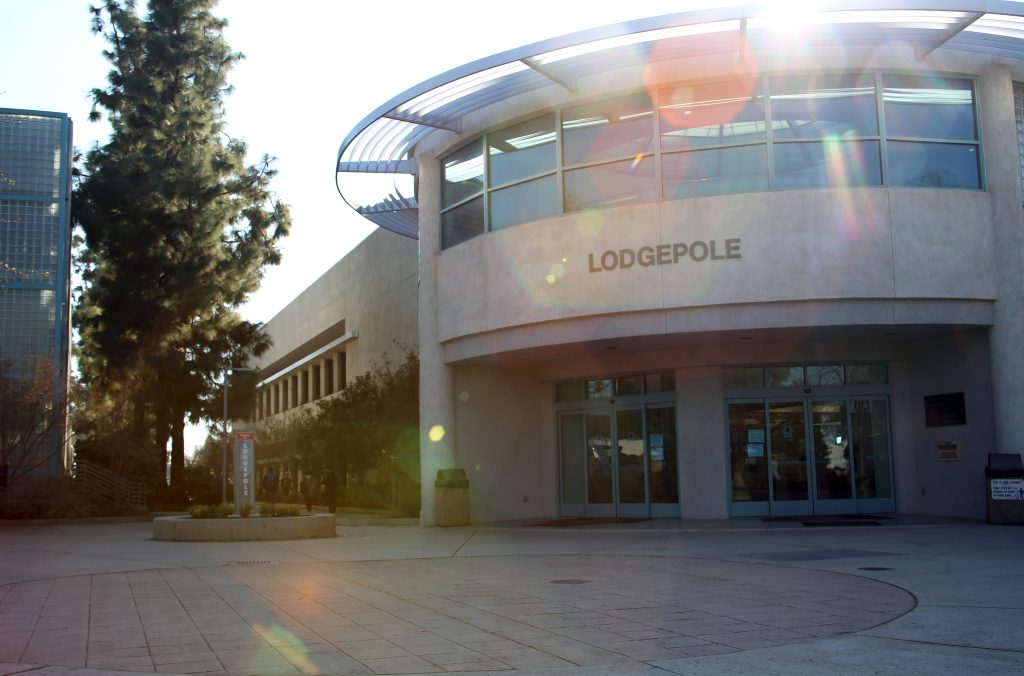 entrance of Lodgepole building