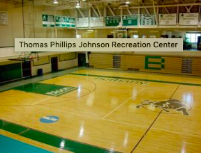 One of the gyms included for students, specifically for basketball.