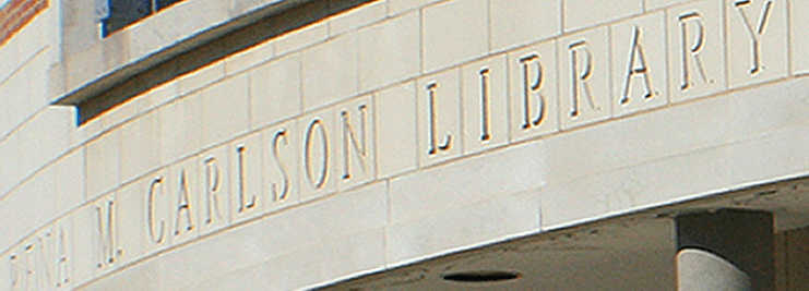 Main entrance to the Carlson Library.