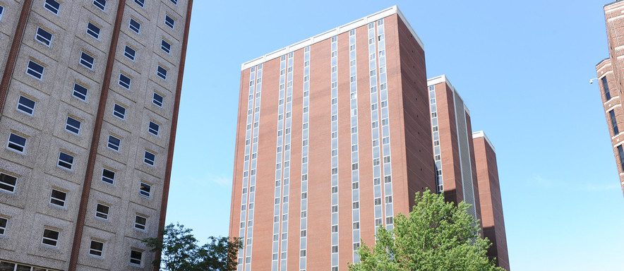The tall Duquesne tower building at Pittsburgh.
