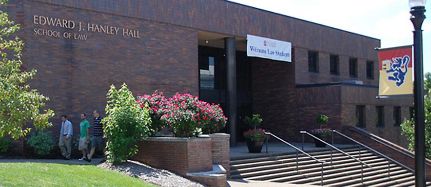 The School of Law building - Hanley Hall.