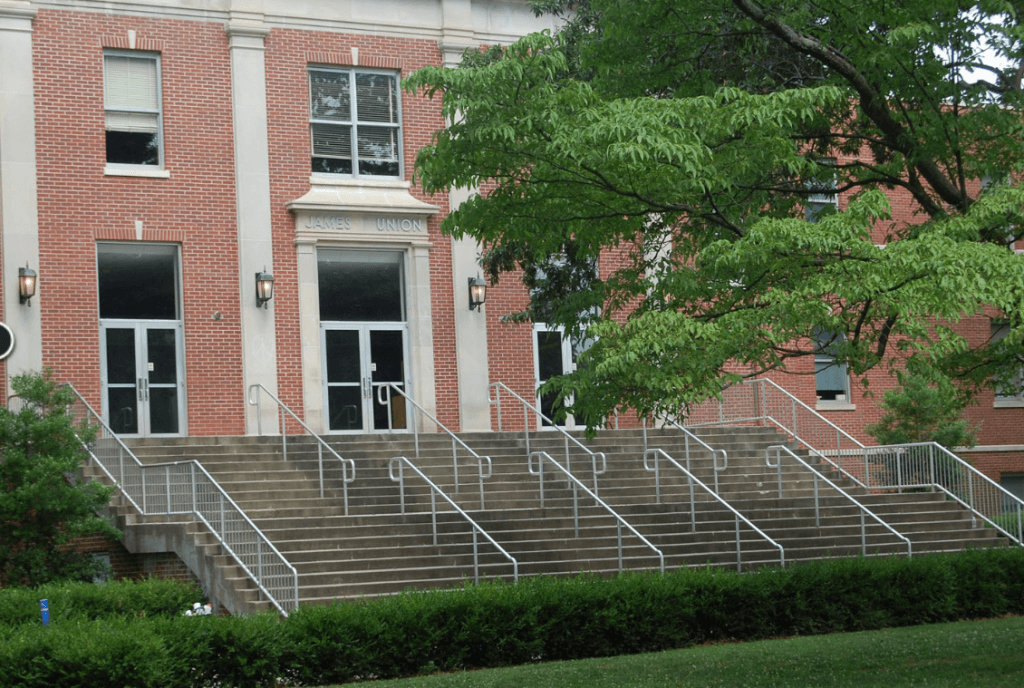 Outside of the James Union Building