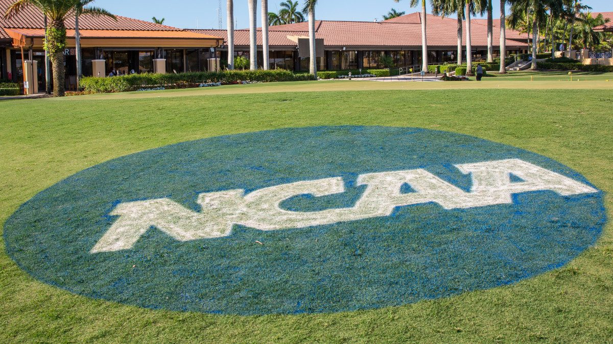 ncaa logo on green grass