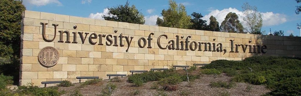 campus sign at uci