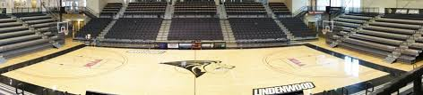 Inside view of the arena court from the view of the seats.