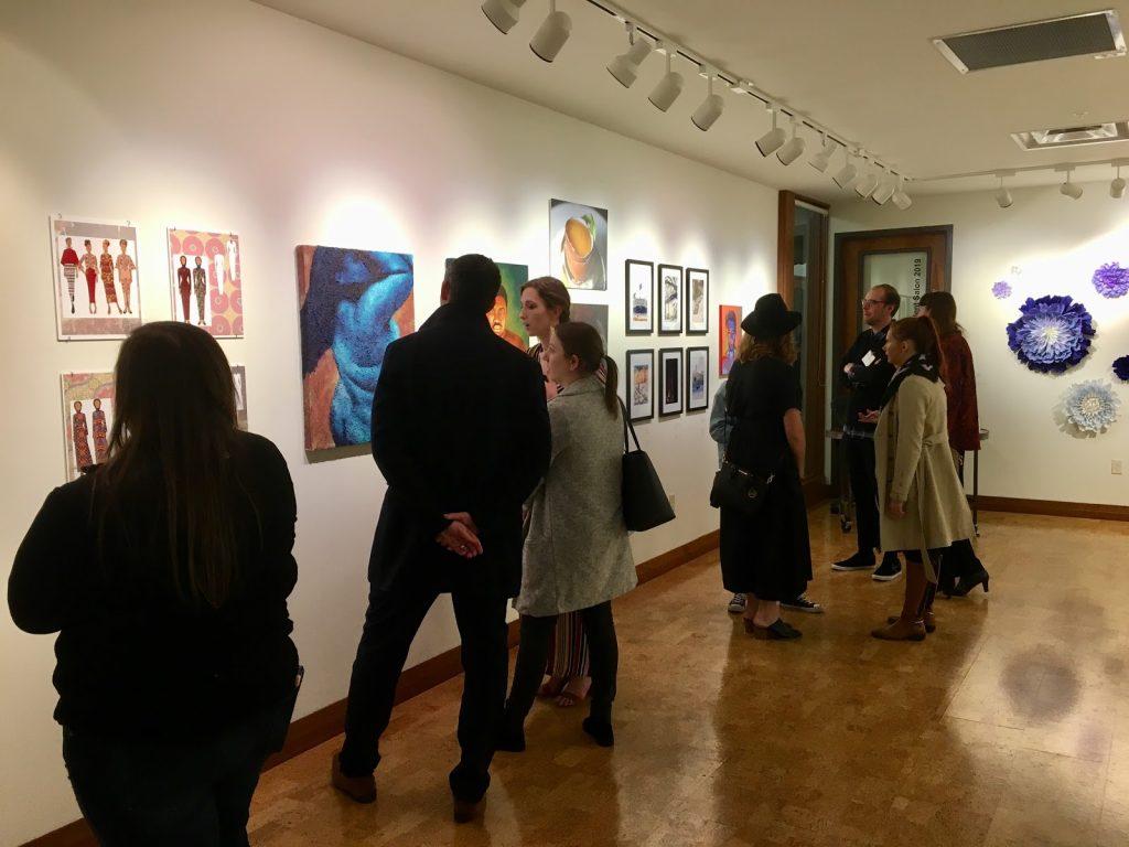 An art gallery at MSU