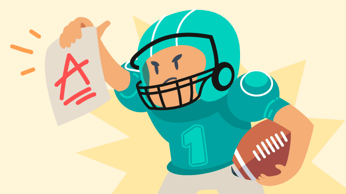 Grades vs. Games Winning College Football Teams & Their GPAs