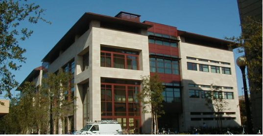 The front of the Lokey Lab Building