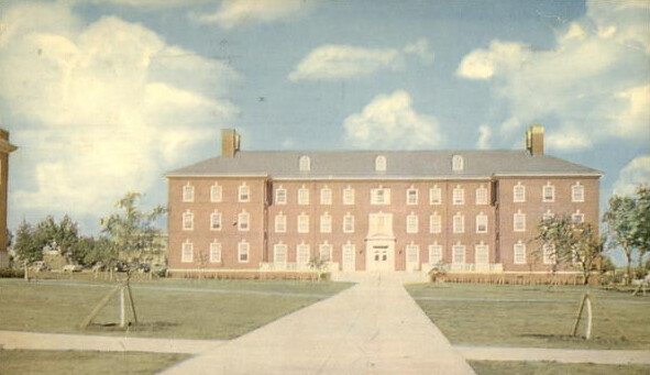 Vintage postcard of Lawyers Inn at SMU