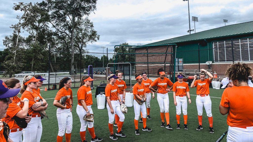 The Clemson University softball team