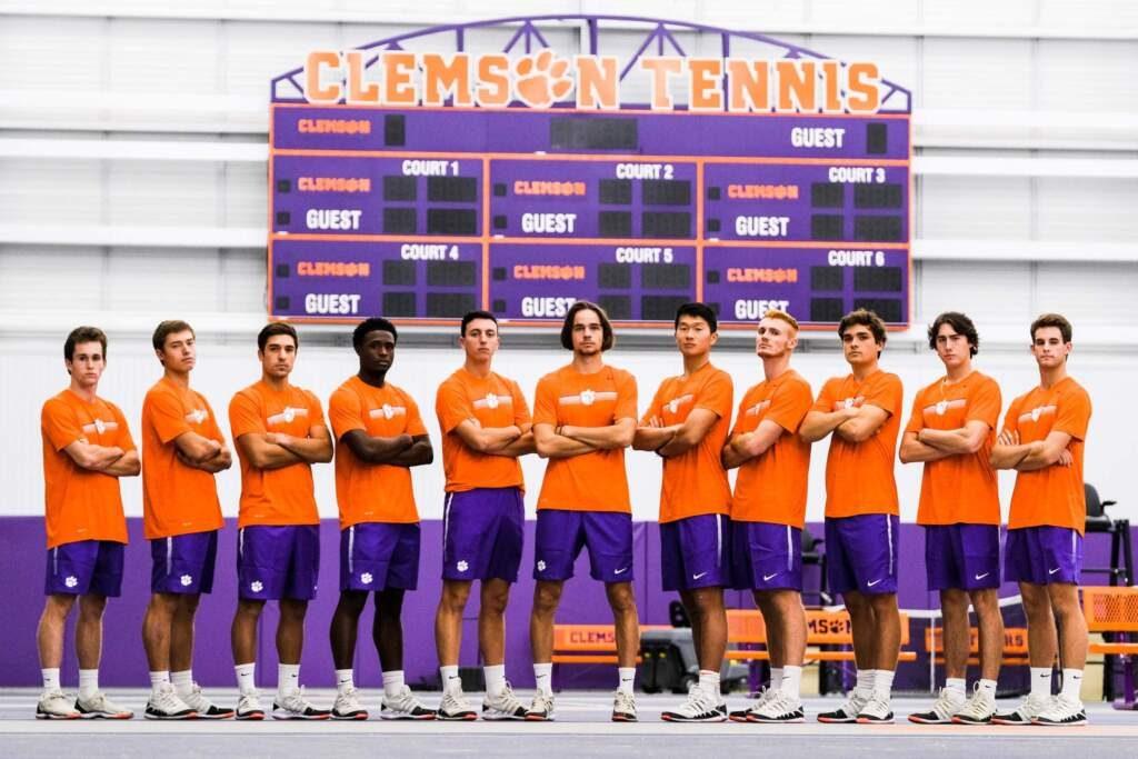 The Clemson Men's Tennis Team