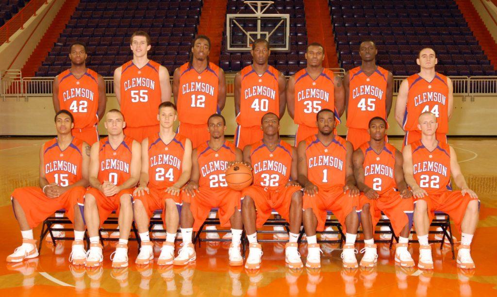 Team photo of the Clemson Men's Basketball Team