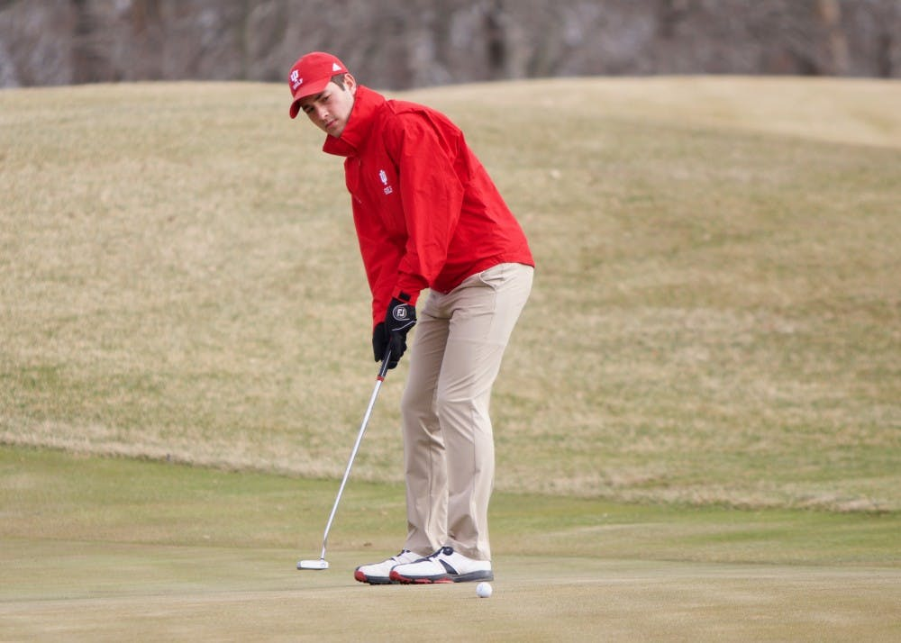 An IU golf player on the golf course