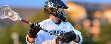 a lacrosse player with the ball