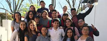 a group of students who were awarded the Goizueta Foundation Scholarship