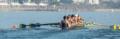 the rowing team on the water