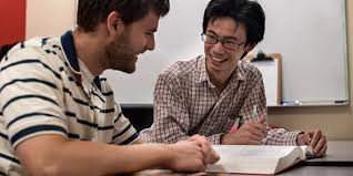 A student and a tutor during a session