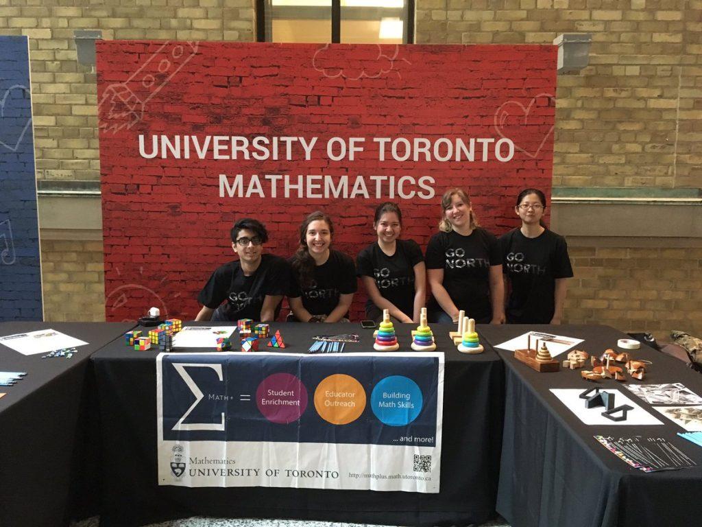 students tabling for university of Toronto mathematics
