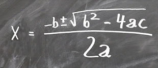 A basic math equation on the blackboard
