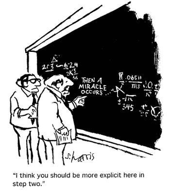 Cartoon of a math proof