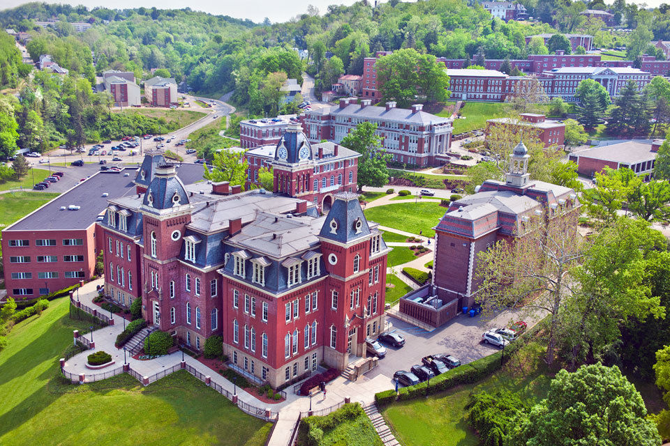 Overview of campus at WVU.