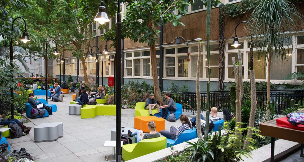 Hangout spot for students on campus at University of Calgary