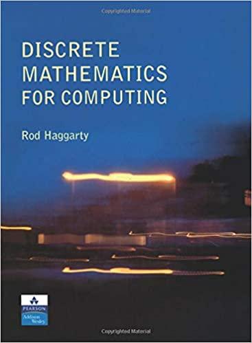 """A """"Discrete Mathematics for Computing"""" textbook cover"""