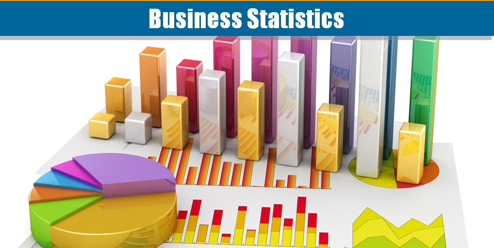 Different types of graphs relating to statistics for business activities.