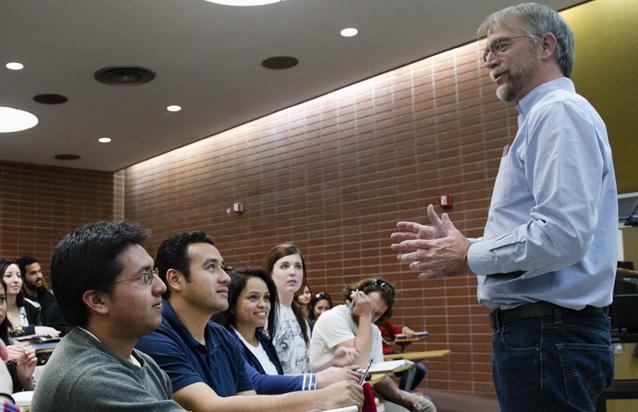 professor teaching mth 327 class