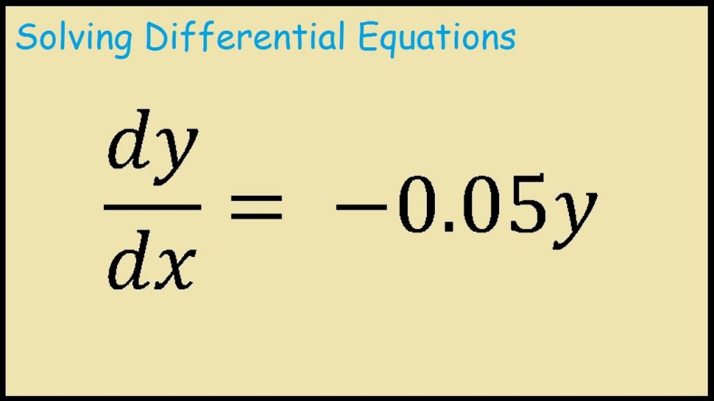 A differential equation written down