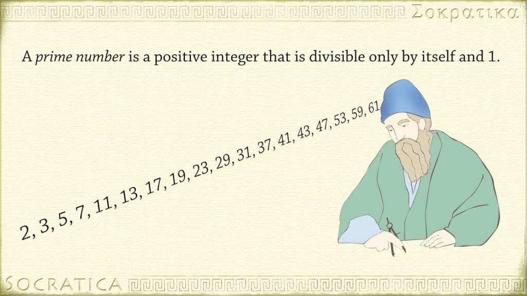 A list of prime numbers coming out of a mathematician's blue hat.