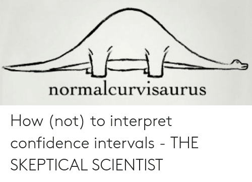 A normal curve represented by a dinosaur.
