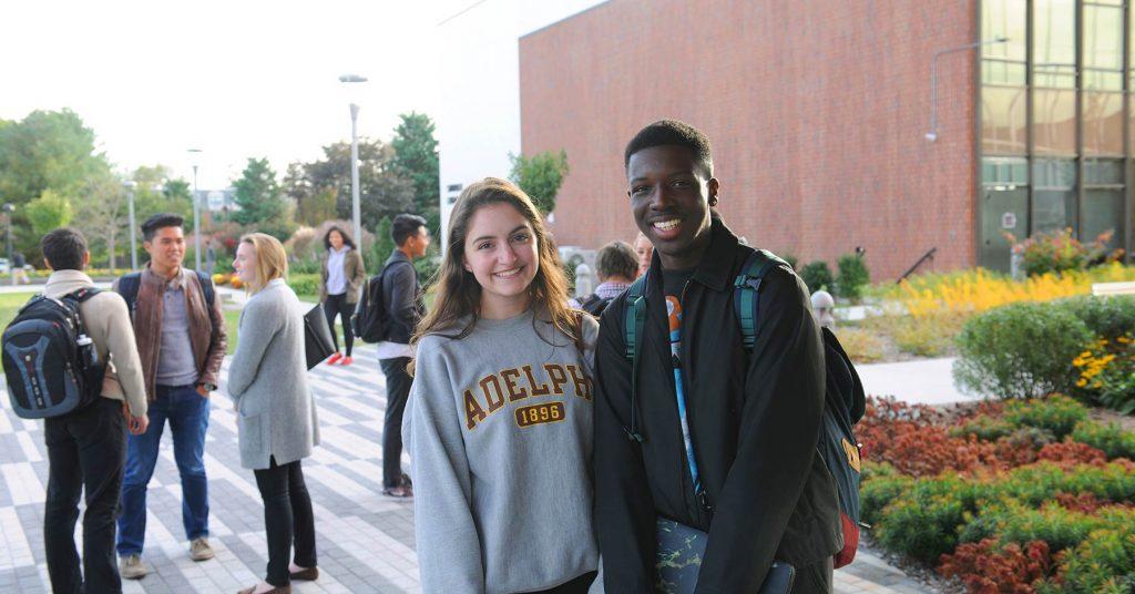 students at adelphi university