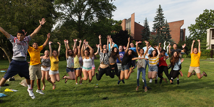 A group of Adelphi students