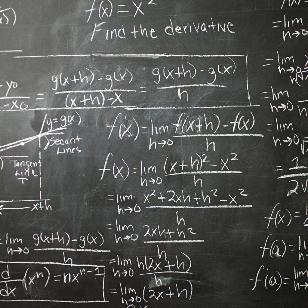 math equations on the blackboard