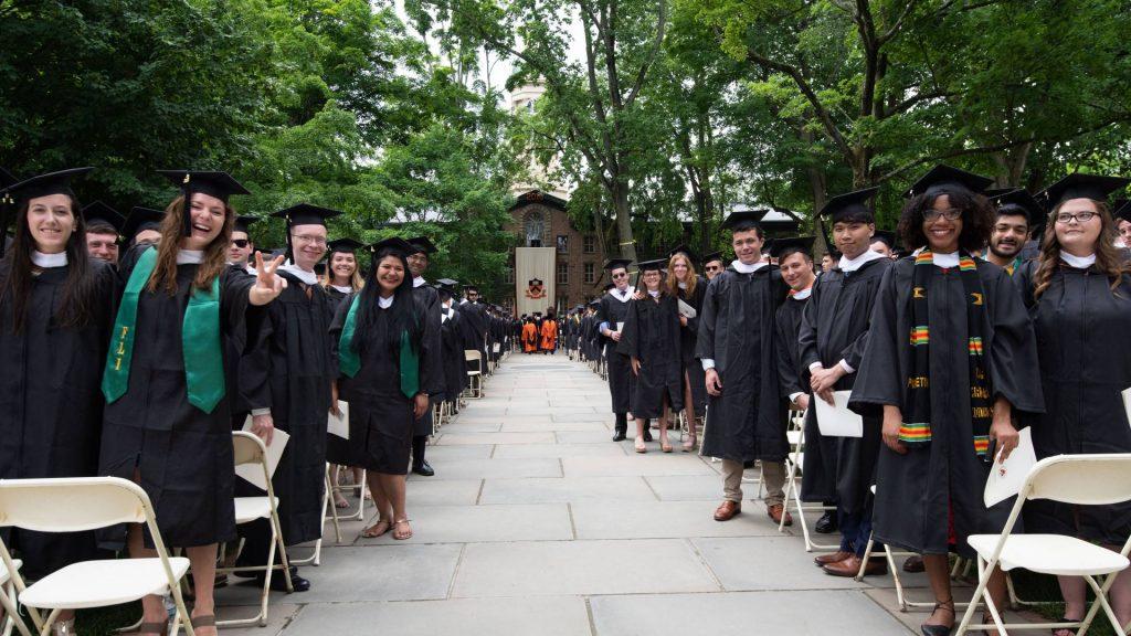 Princeton students at graduation