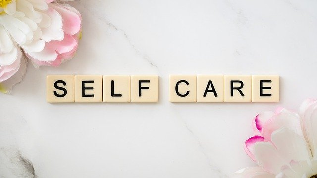scrabble letters for self-care