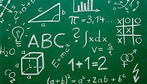 A chalkboard with math equations and strategies written with chalk.